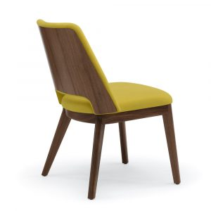 Theme Guest Chair, Wood Back (Rear View)